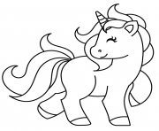 Printable Unicorn turning his head coloring pages