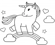 Printable Rainbow unicorn coloring pages