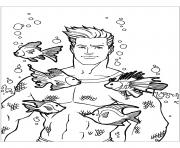 Aquaman with fishes