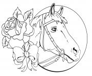beautiful horse and rose for teens