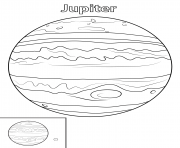 Printable jupiter planet coloring pages