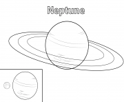 Printable neptune planet coloring pages