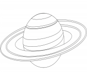 Printable saturn planet coloring pages