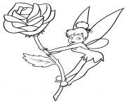 tinkerbell on a flower rose