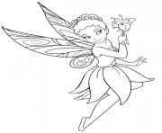 Printable disney fairy girls coloring pages