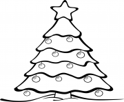 easy christmas tree drawing