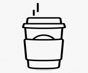 Printable coffee starbucks coloring pages