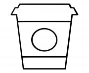 Printable design starbucks cup ultra circle coloring pages