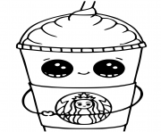 Printable starbucks cups kawaii coloring pages