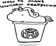Printable how to make unicorn frappucino starbucks coloring pages