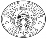 Printable starbucks coffee logo coloring pages