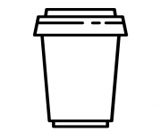 Printable takeout coffee cup starbucks coloring pages