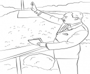 Printable martin luther king i have a dream by lena london coloring pages