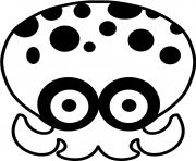 Printable Splatoon Octapus coloring pages
