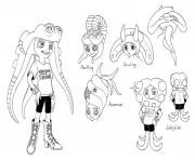 Printable Splatoon Characters Marie coloring pages