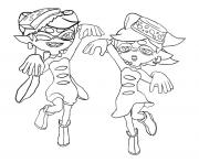 Printable Splatoon Squid Sisters coloring pages