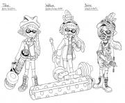 Printable splatoon 2 inklings watase scino coloring pages