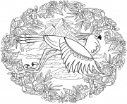Printable eagle mandala animal coloring pages