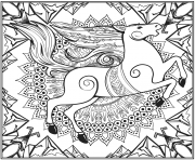 Printable horse mandala animal coloring pages