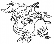 Printable pokemon gigamax dracaufeu coloring pages