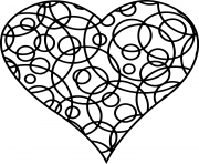 Printable patterned heart for love coloring pages