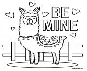 Llama Be Mine Love