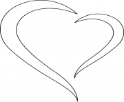 Printable stylized heart coloring pages