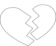Printable broken heart 3 coloring pages