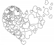 Printable torn heart coloring pages