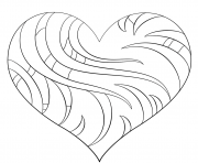 Printable intricate heart coloring pages