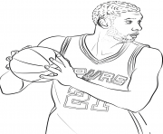 Printable tim duncan coloring pages