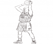Printable reggie miller coloring pages
