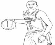 Printable russell westbrook coloring pages