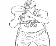 Printable shaquille oneal coloring pages