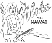 hawaiian girl with ukulele