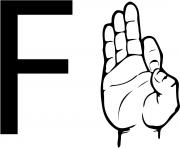 asl sign language letter f