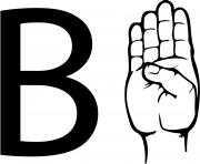asl sign language letter b