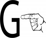asl sign language letter g
