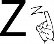 asl sign language letter z
