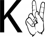 asl sign language letter k