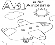 letter a is for airplane