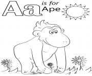 letter a is for ape