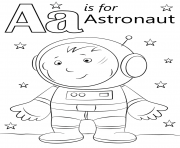 letter a is for astronaut