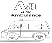letter a is for ambulance