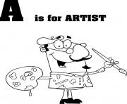 letter a is for artist