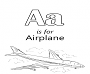 letter a is for airplane travel