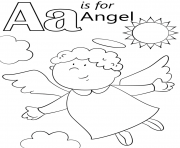 letter a is for angel