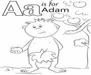 letter a is for adam
