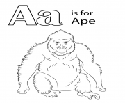 letter a is for ape animal
