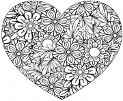 heart with floral pattern valentines day adult